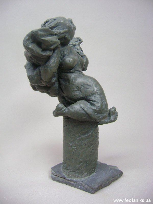 Нирвана. Вакханка Верка. Бронза, камень. Н-25см. 2008г.