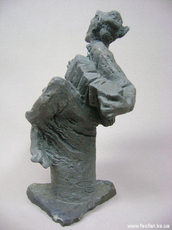 Нирвана. Сатир Степаныч. Бронза, камень. Н-25см. 2008г.