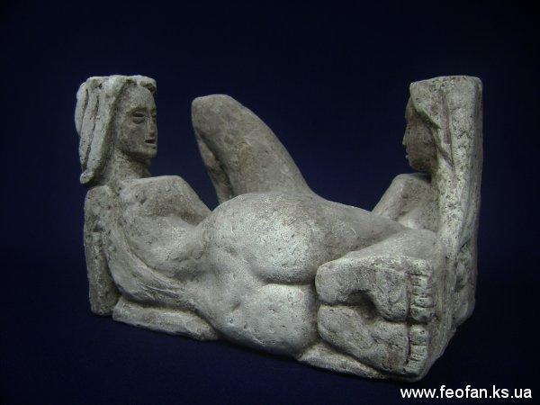 Барханы Алешья. Искусственный камень. Н-13см.х20см.х13см. 2007г.