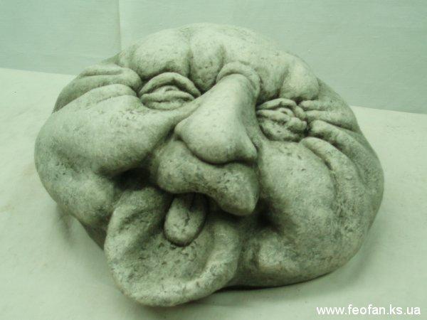 Каменные головы. Егорка. Искусственный камень. Н-15см.о22см. 2006г.