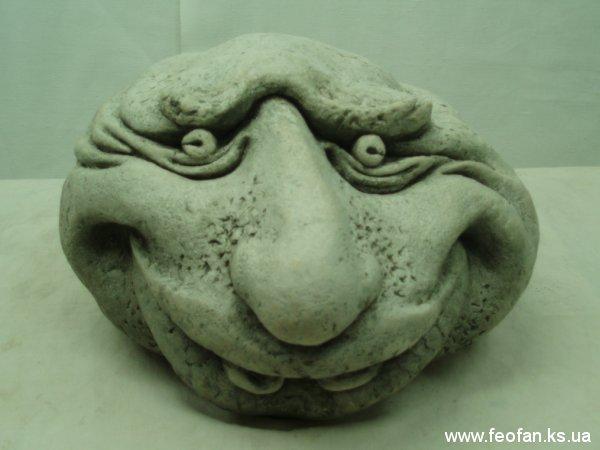 Каменные головы. Нюма. Искусственный камень. Н-15см.о21см. 2006г.